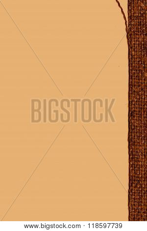 Textile Weft, Fabric Image, Khaki Canvas, Worn Material, Bagging Background