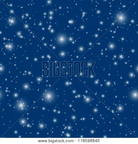 EPS10 vector snowfall seamless background - easy to change color