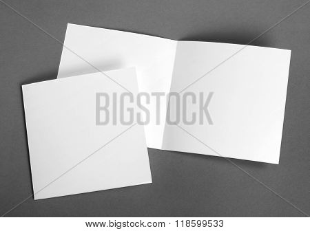 White Empty  Cards On Grey To Replace Your Design.
