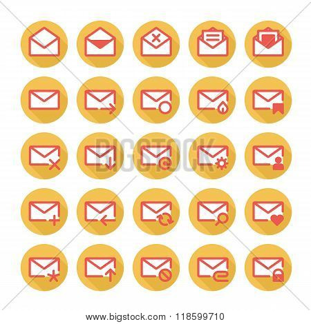 Orange mail icons
