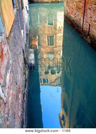 Venice Alleyway Reflection