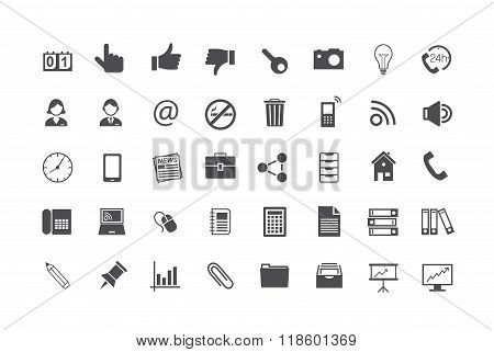 Icon Set buiseness - vektor illustration background