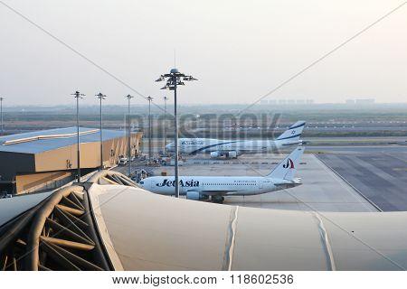 Bangkok, Thailand - February 17, 2016: Suvarnabhumi Airport Interior. Suvarnabhumi Airport Is One Of