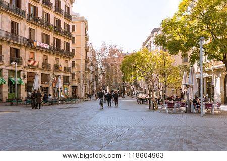 The historical center, district El Born of Barcelona