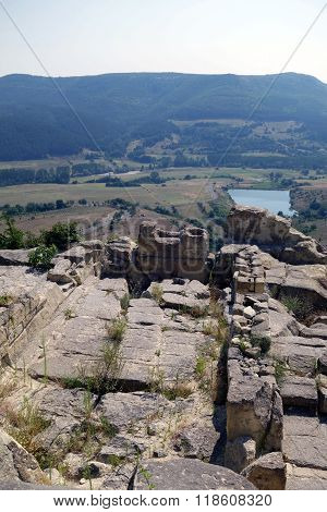 The historical complex Perperikon - ancient city built in South Bulgaria near Kardzhali city