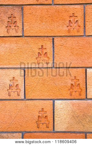 Milan  In Italy   Concrete Wall  Brick   The    Abstract  Background Stone