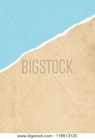 Diagonal Ripped Paper Background