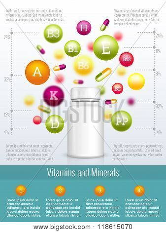Vitamins and supplements infographics