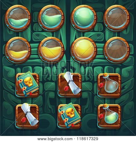 Jungle Shamans Gui Icons Buttons Kit