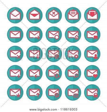 Green mail icons.