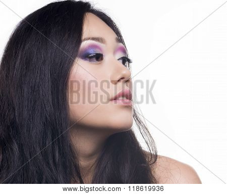 Beautifull Model With Long Black Hair