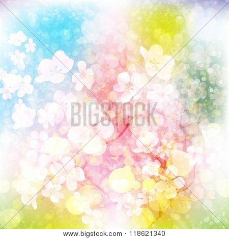 Gentle floral background