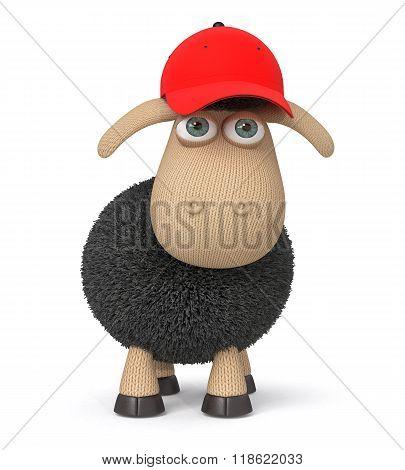 Ridiculous 3D Lamb In A Baseball Cap