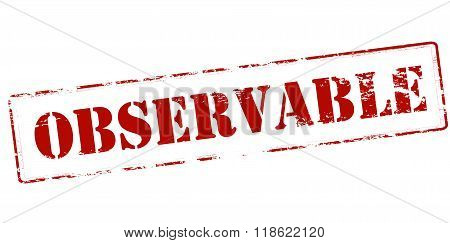 Rubber stamp with word observable inside vector illustration