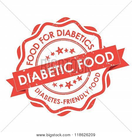 Diabetic Food grunge red label