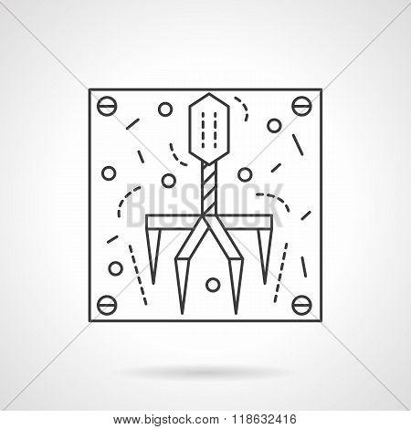 Bacteriophage icon flat line design vector icon