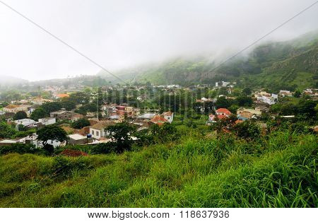 Fog Over Capital Of The Island Brava, Nova Sintra