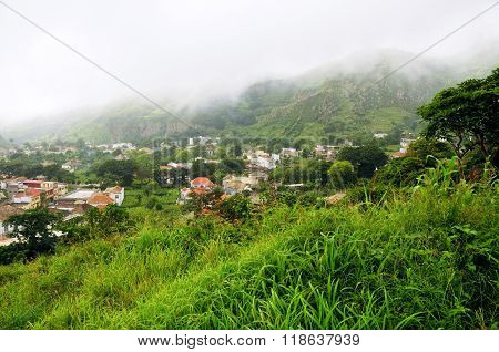 Fog Over Capital Of The Island Brava