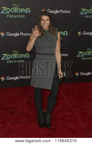 LOS ANGELES - FEB 17:  Jen Widerstrom at the Zootopia Premiere at the El Capitan Theater on February 17, 2016 in Los Angeles, CA