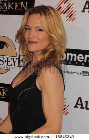 LOS ANGELES - FEB 16:  VIctoria Pratt at the Forsaken Los Angeles Special Screening at the Autry Museum of the American West on February 16, 2016 in Los Angeles, CA