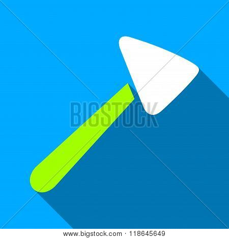 Neurologist Hammer Flat Long Shadow Square Icon