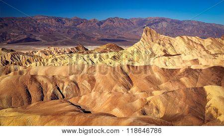 View From Zabriskie Point In Death Valley