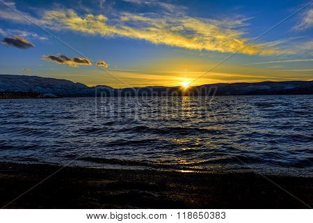Okanagan Lake Sunset Kelowna British Columbia Canada
