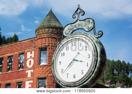 Historic Clock In Deadwood