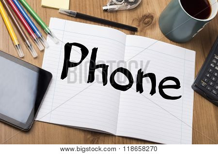 Phone - Note Pad With Text