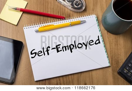 Self-employed - Note Pad With Text