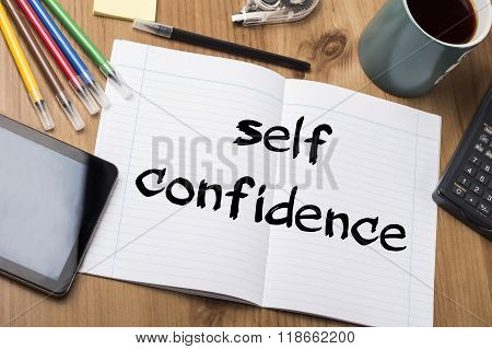 Self Confidence - Note Pad With Text