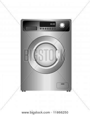 Realistic  Illustration Of New Washing Machine Isolated On White  Background