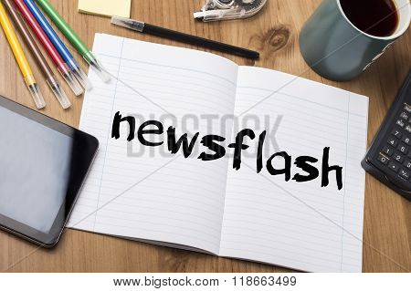 Newsflash - Note Pad With Text