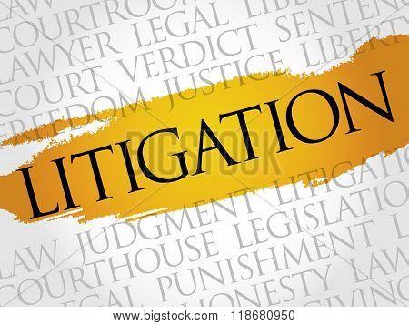 Litigation Word Cloud