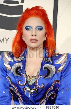 Lady Gaga at the 58th GRAMMY Awards held at the Staples Center in Los Angeles, USA on February 15, 2016.
