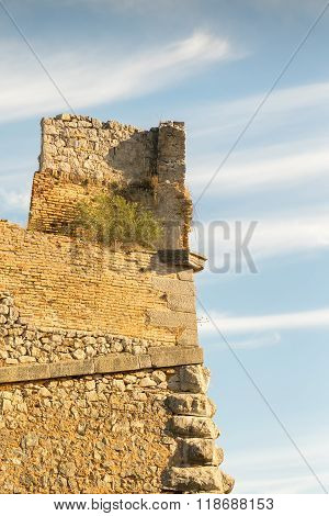 Palamidi castle at Nafplio Greece against the sky.