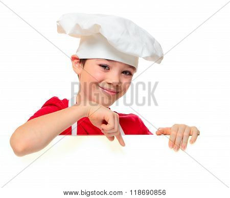 Cook boy on white
