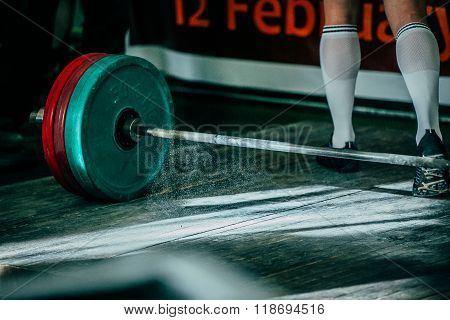 heavy barbell and magnesium
