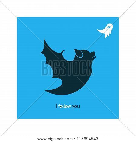Funny Bat, Satirical Illustration