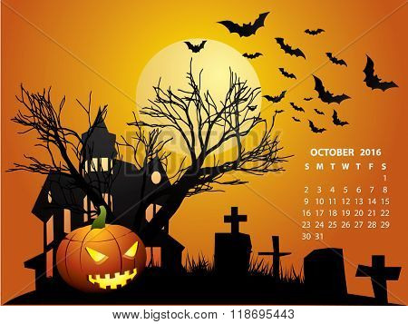 October Calendar - Halloween 2016