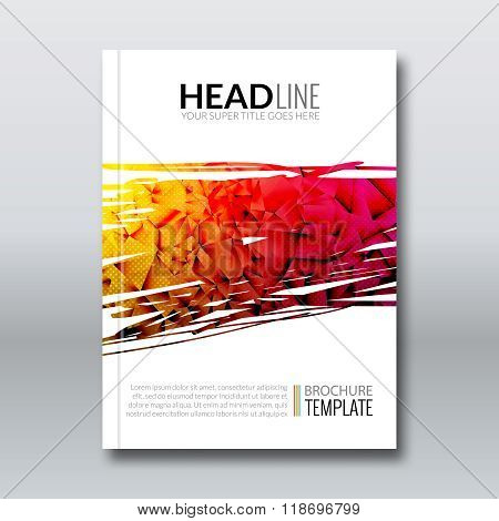 Cover report colorful triangle geometric prospectus design background, cover flyer magazine, brochure book cover template layout, vector illustration poster
