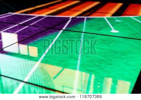 Led Floor Technology Purple And Red Patterns