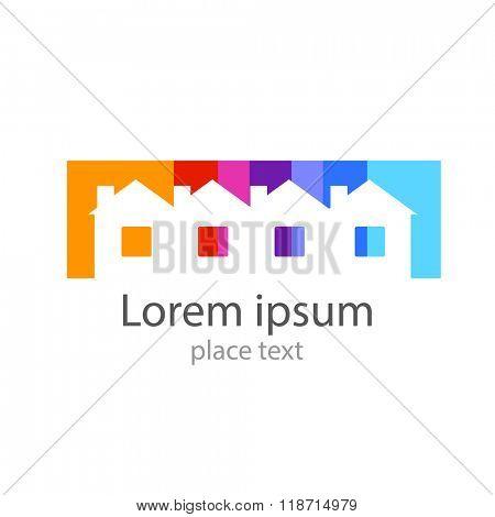 Home - template for the logo: house logo,  home,   home icon,  real estate logo,  building logo,  construction logo, real estate, housing, registration, etc..