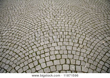 Cobble Stone Pattern Pavement