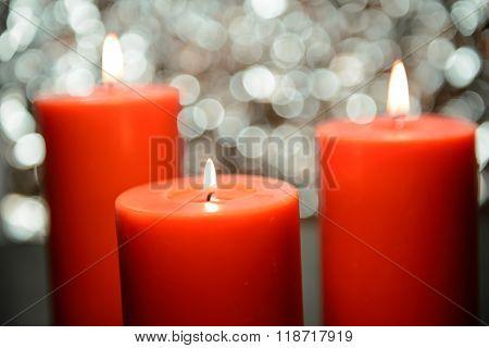 Aromatic Orange Candle, Bokeh Background