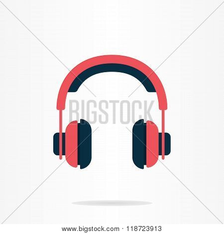 Headphones flat logo