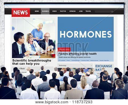 Hormones Behaviour Crime Health Concept