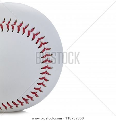 Baseball Ball Close-up As A Background.