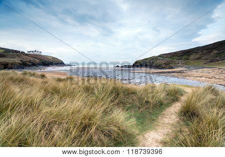 Poldhu Cove In Cornwall