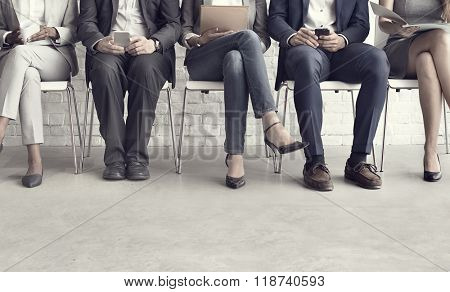 Human Resources Interview Recruitment Job Concept